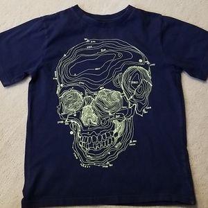 PLACE Navy Skull Tee